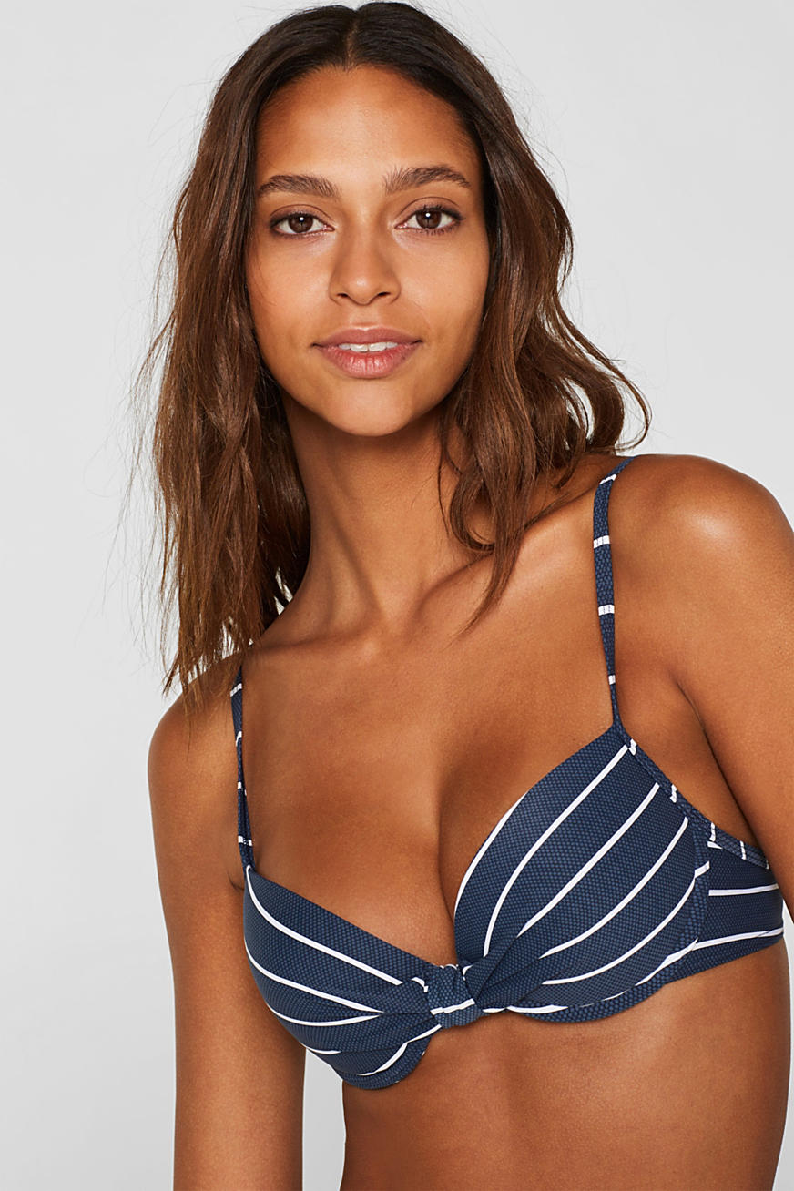 Push-up top with stripes