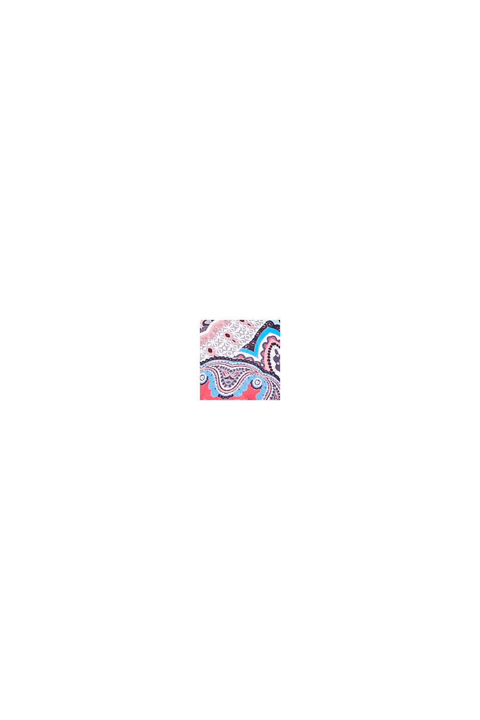 Printed, unpadded underwire bikini top, RED COLORWAY, swatch