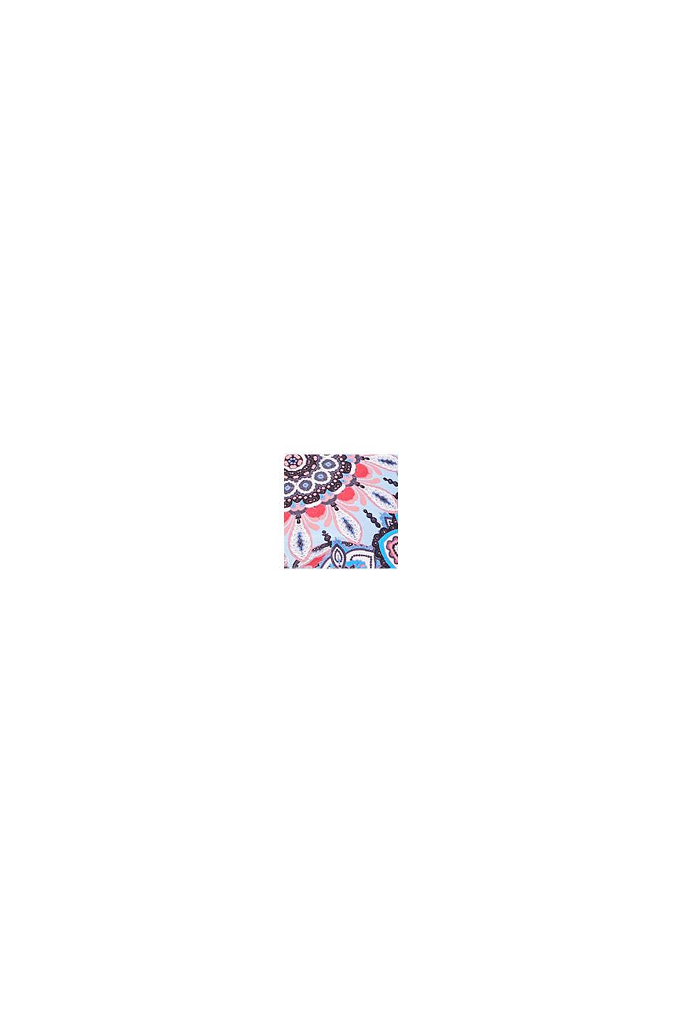 Wattiertes Neckholder-Top mit Print, RED COLORWAY, swatch