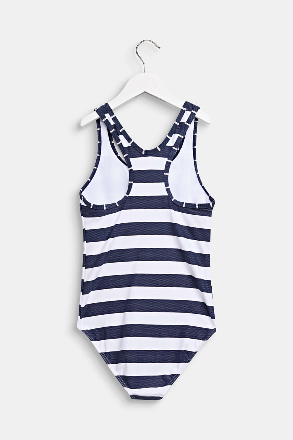 Striped swimsuit with a racer back, DARK BLUE, detail image number 1
