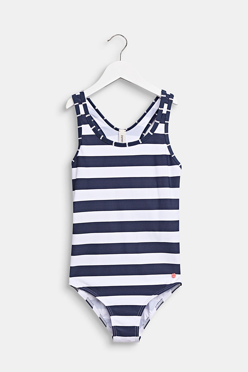 Striped swimsuit with a racer back