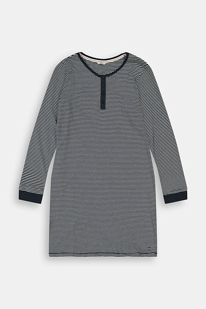 Gestreept jersey nachthemd, 100% biologisch katoen