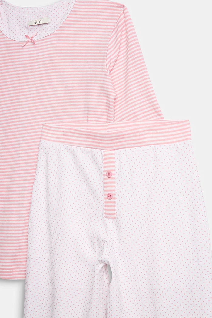 Jersey pyjamas in a mix of patterns, WHITE, detail image number 2