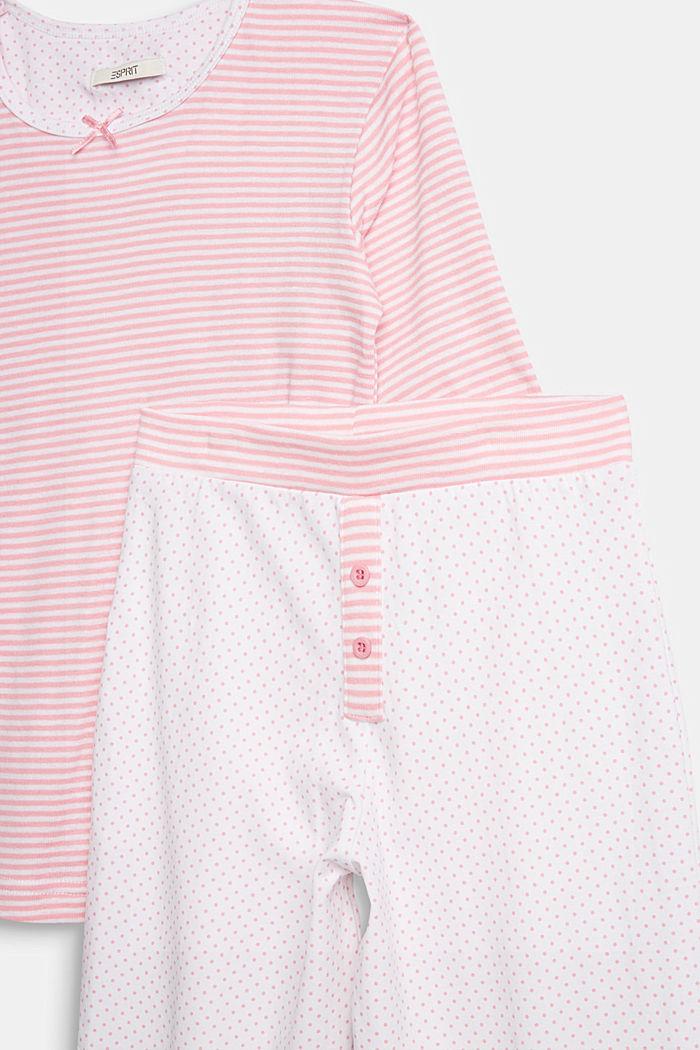 Jersey-Pyjama im Muster-Mix, WHITE, detail image number 2