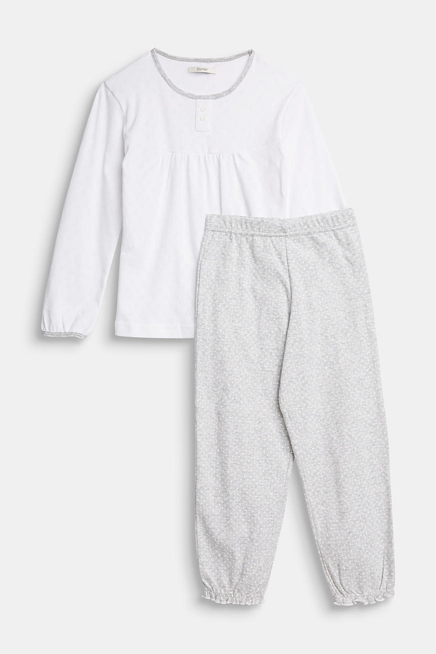Pyjamas with an openwork pattern, 100% cotton