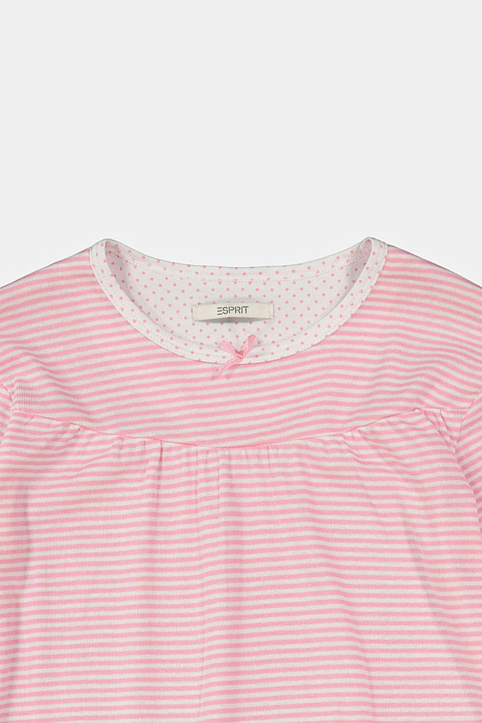 Striped jersey nightshirt, 100% organic cotton, OLD PINK, detail image number 2