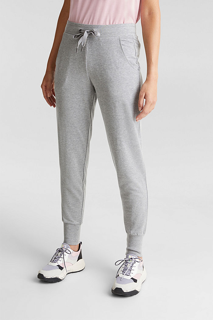 Velvety tracksuit bottoms with organic cotton