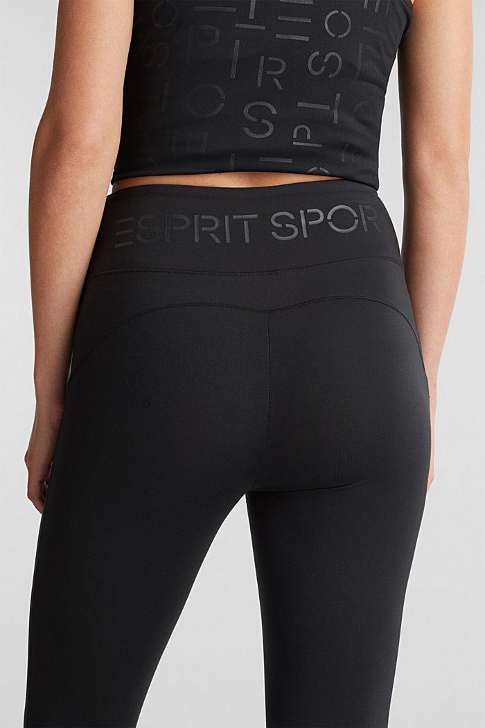 REPREVE® leggings, E-Dry, BLACK, detail image number 1