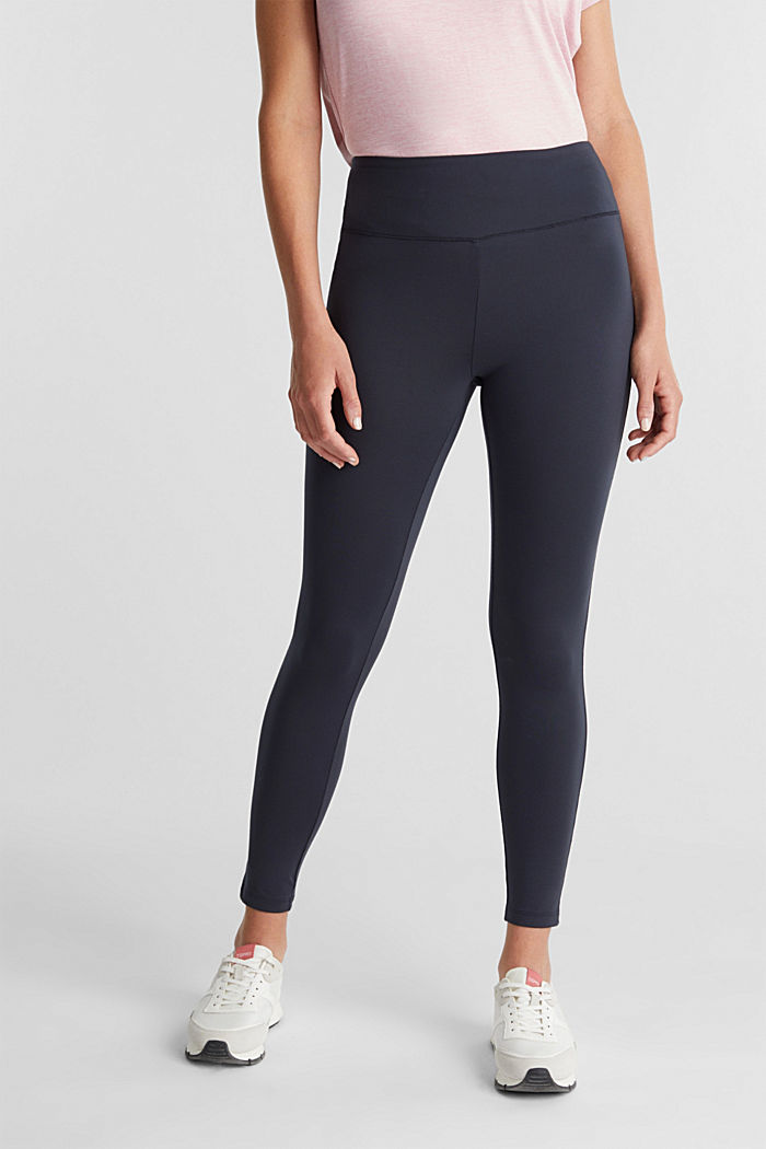 REPREVE® leggings, E-Dry, NAVY, detail image number 0