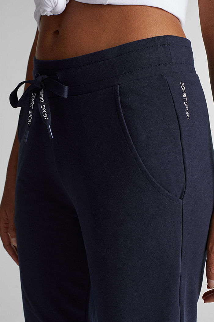 Tracksuit bottoms with organic cotton, NAVY, detail image number 1