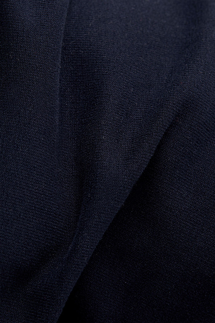 Tracksuit bottoms with organic cotton, NAVY, detail image number 3