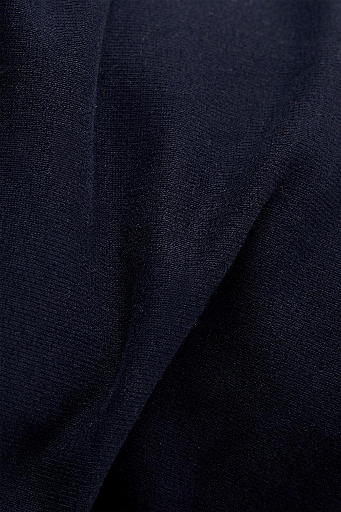Pantalón de felpa en algodón ecológico, NAVY, detail image number 3
