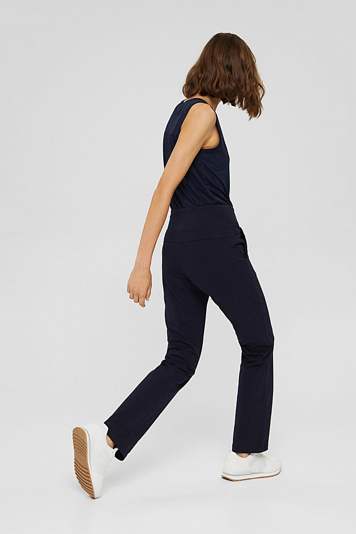 Jersey-Hose aus Organic Cotton, NAVY, detail image number 3