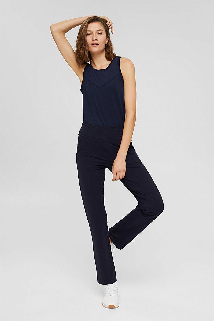 Jersey broek van organic cotton