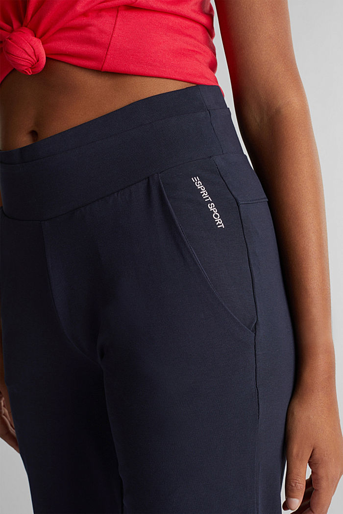 Jersey-Hose aus Organic Cotton, NAVY, detail image number 1