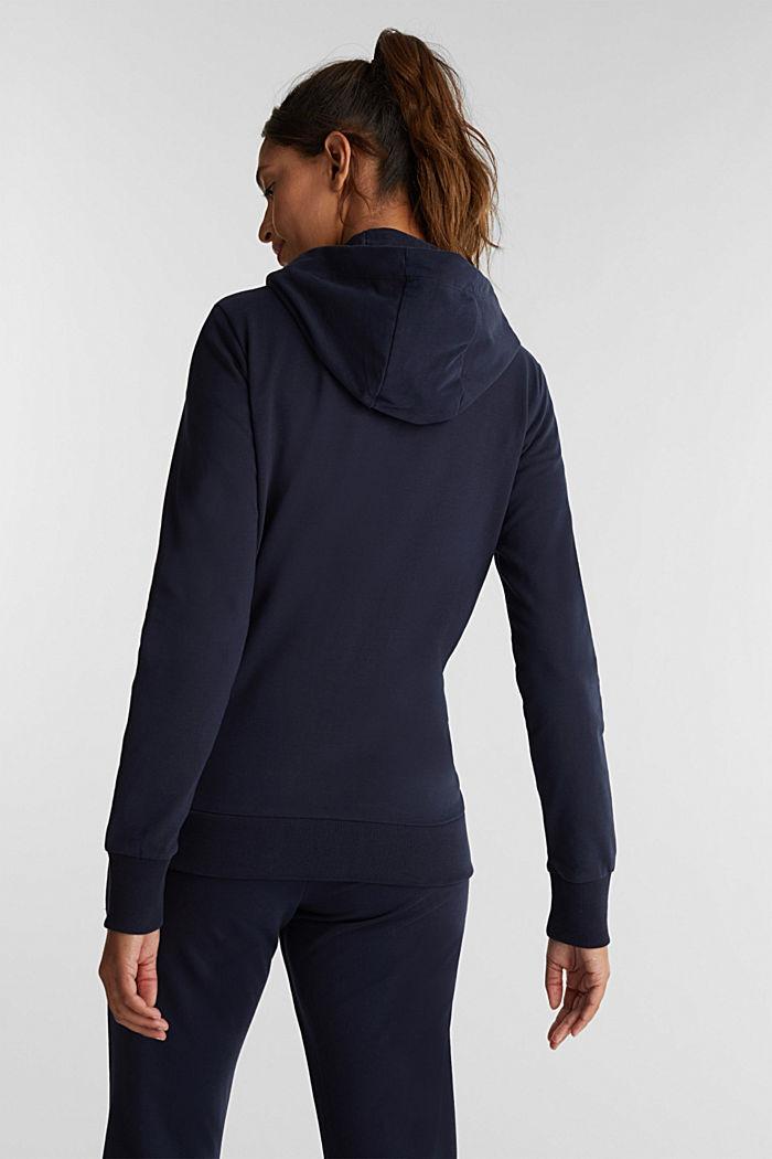 Zipper-Cardigan aus Organic Cotton, NAVY, detail image number 1
