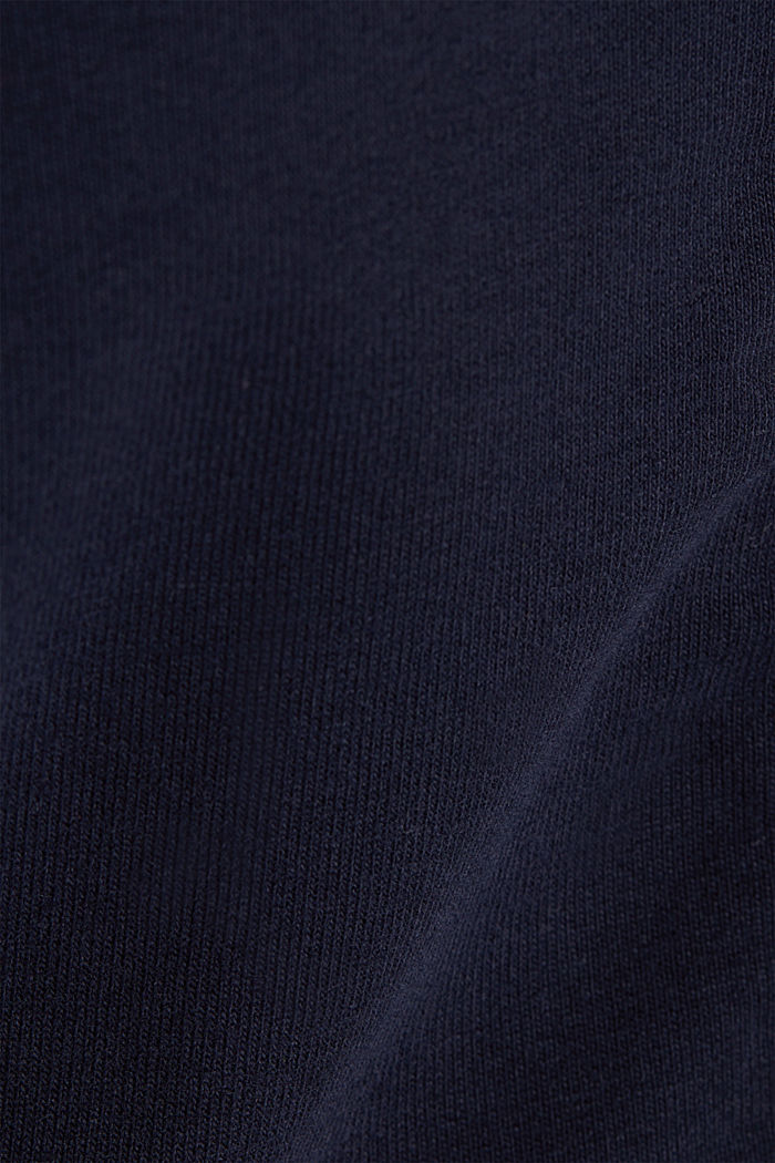 Zip-up cardigan made of organic cotton, NAVY, detail image number 2