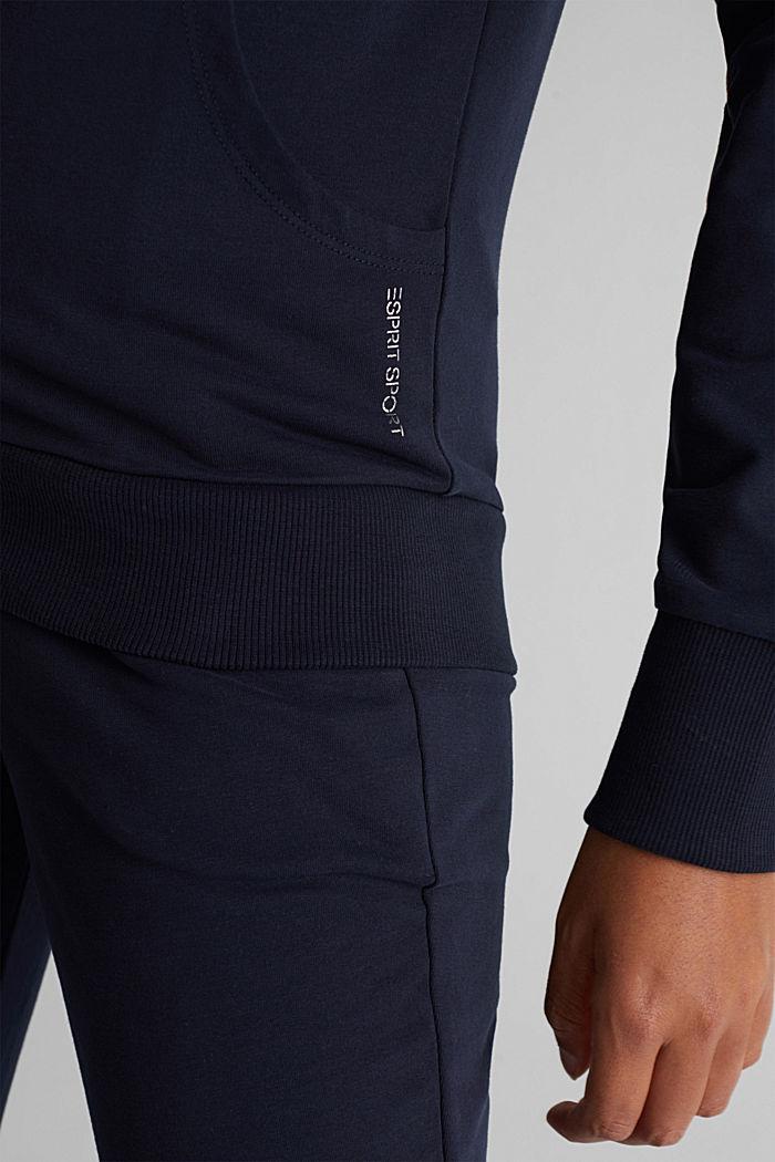 Zipper-Cardigan aus Organic Cotton, NAVY, detail image number 3