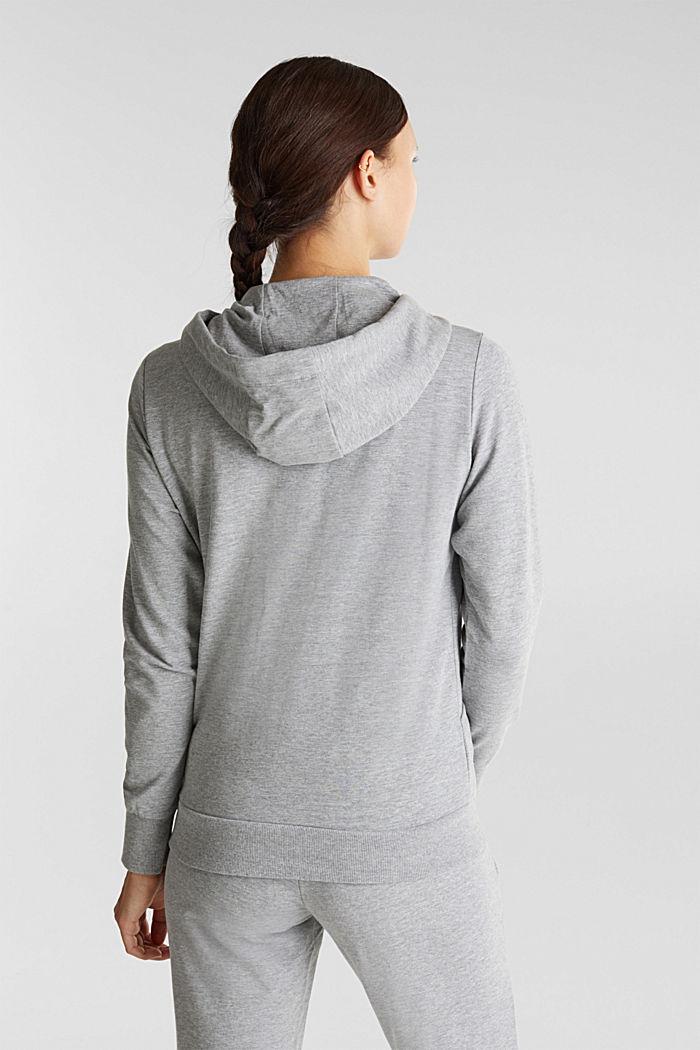 Velvety hoodie with organic cotton, MEDIUM GREY, detail image number 3