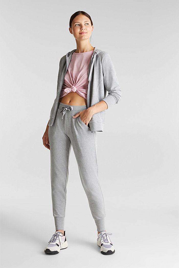 Velvety hoodie with organic cotton, MEDIUM GREY, detail image number 1
