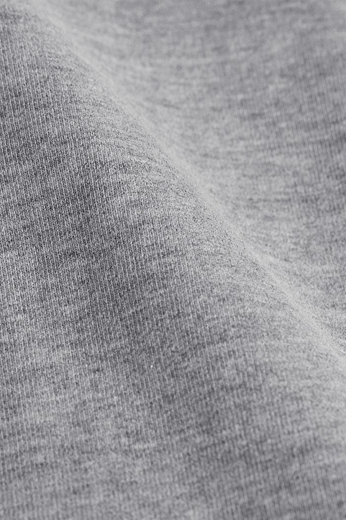 Velvety hoodie with organic cotton, MEDIUM GREY, detail image number 4