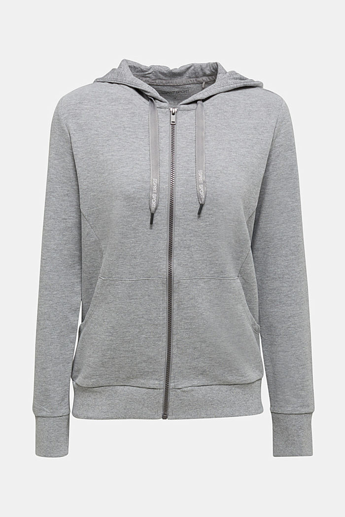 Velvety hoodie with organic cotton