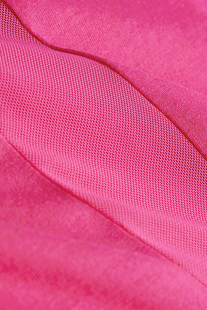 Recycled: T-shirt with mesh inserts, PINK FUCHSIA, detail image number 4