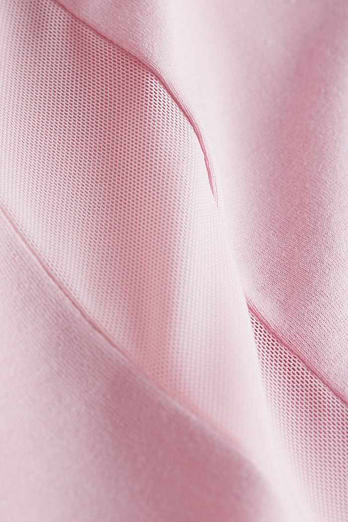 Recycled: T-shirt with mesh inserts, LIGHT PINK, detail image number 4