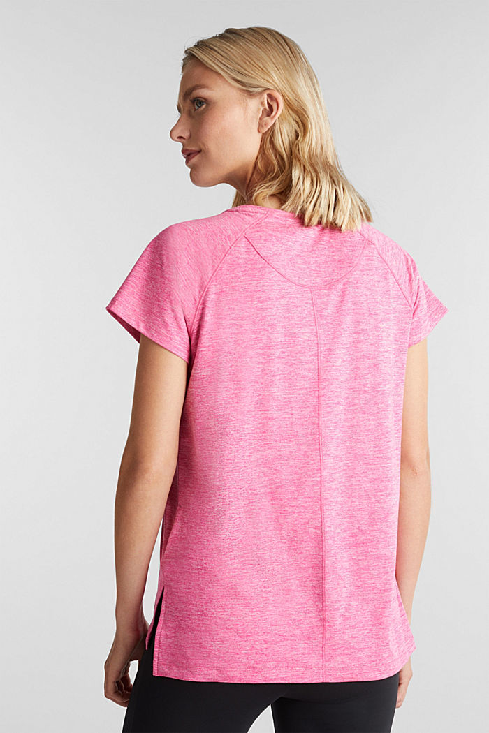 T-shirt REPREVE con E-DRY, PINK FUCHSIA, detail image number 3