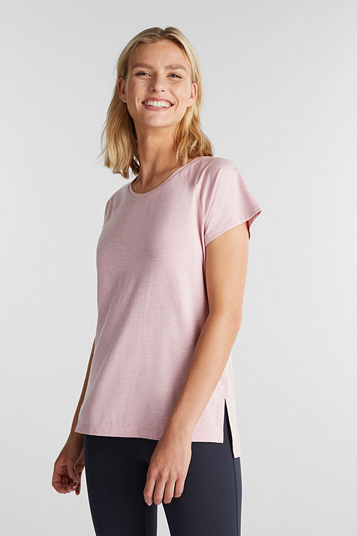 REPREVE T-Shirt mit E-DRY, LIGHT PINK, detail image number 0