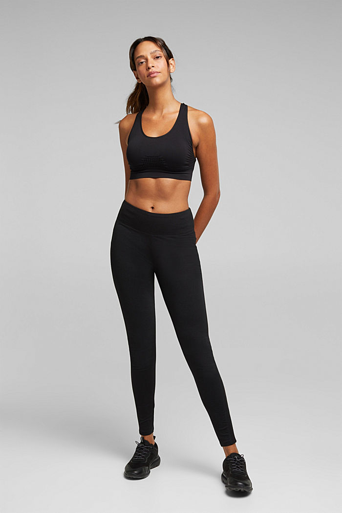 Recycled: seamless sports bra, BLACK, detail image number 2