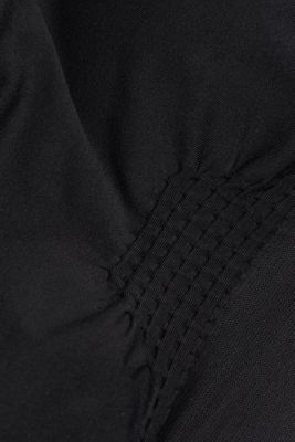 Recycled: seamless sports bra, BLACK, detail