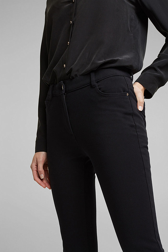 Pantaloni bistretch con cotone biologico, BLACK, detail image number 2