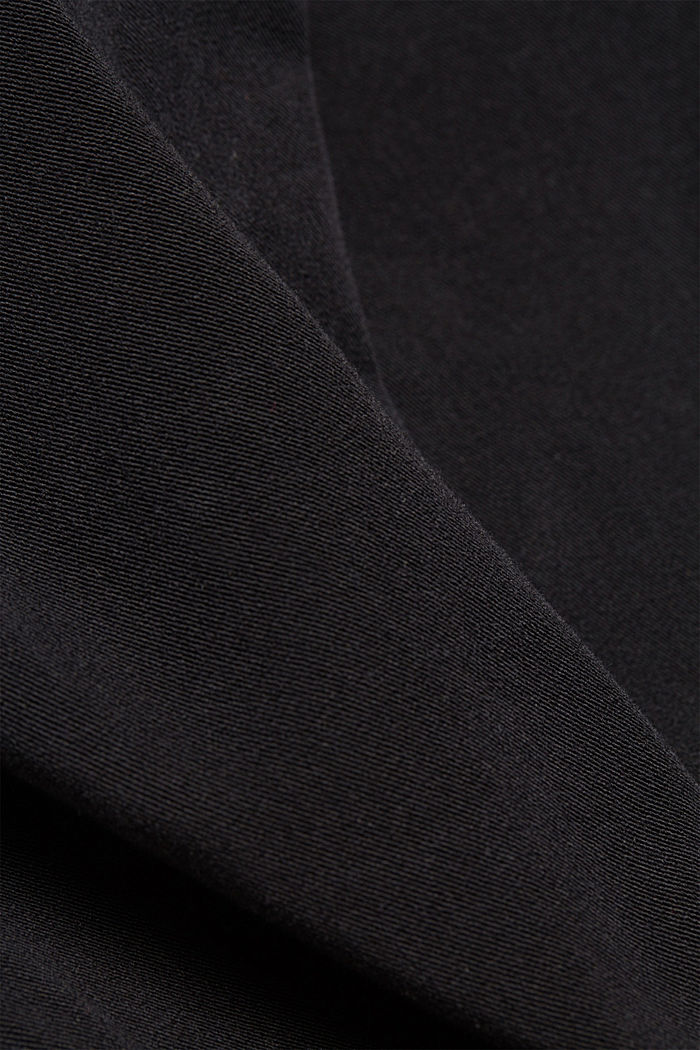 Pantaloni bistretch con cotone biologico, BLACK, detail image number 4