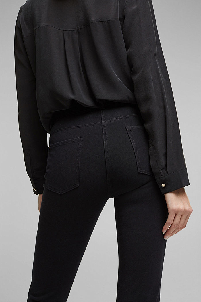 Pantaloni bistretch con cotone biologico, BLACK, detail image number 5