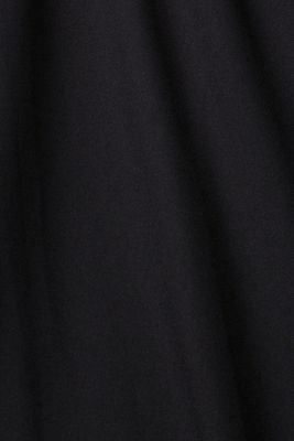 Crêpe dress with laser-cut details, BLACK, detail
