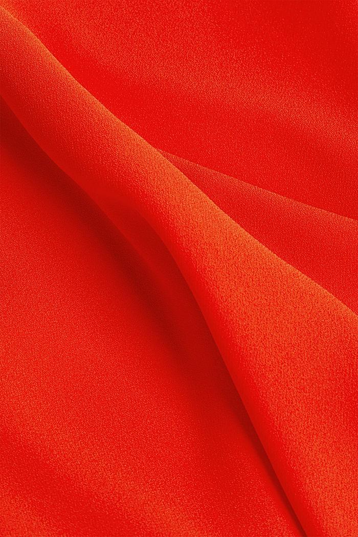 Kreppimekko laserleikkauskoristeilla, RED ORANGE, detail image number 4