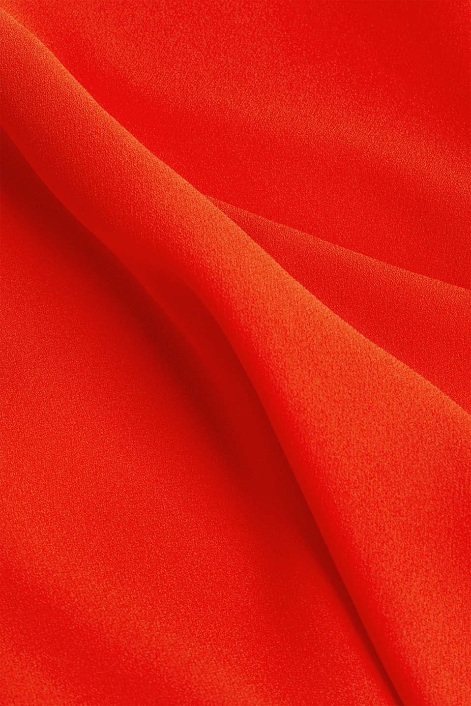 Crêpe dress with laser-cut details, RED ORANGE, detail image number 4