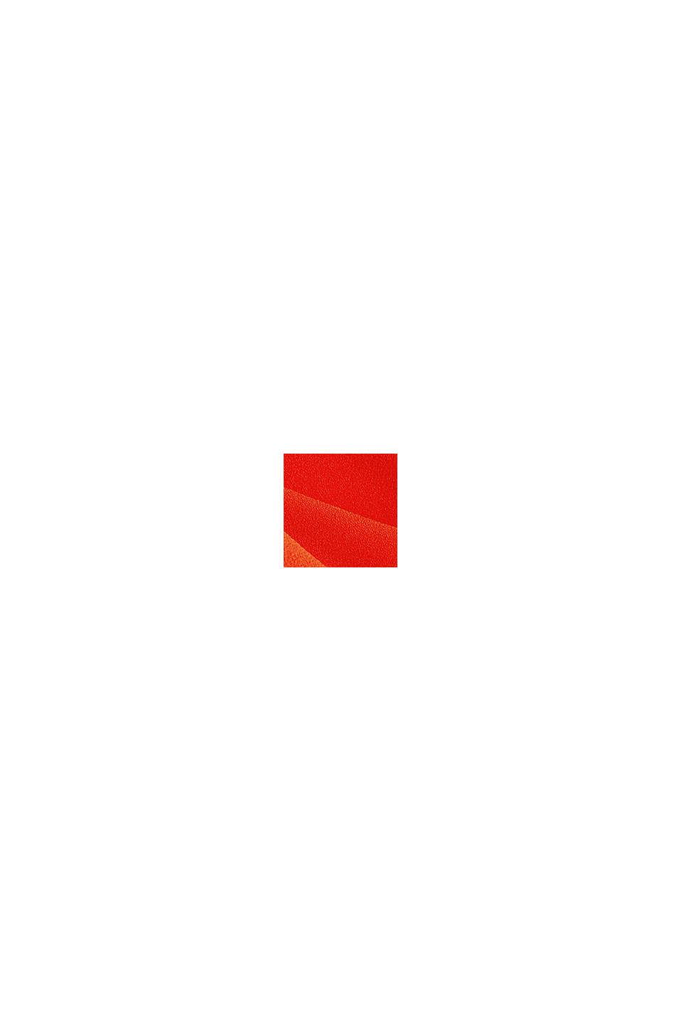 Vestido de crepé con detalles cortados a láser, RED ORANGE, swatch