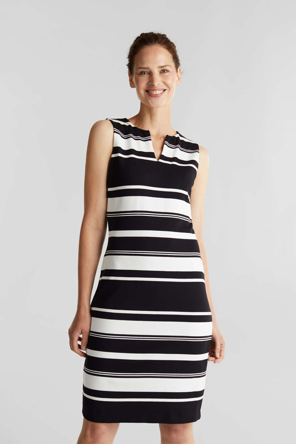 Esprit - Striped jersey sheath dress