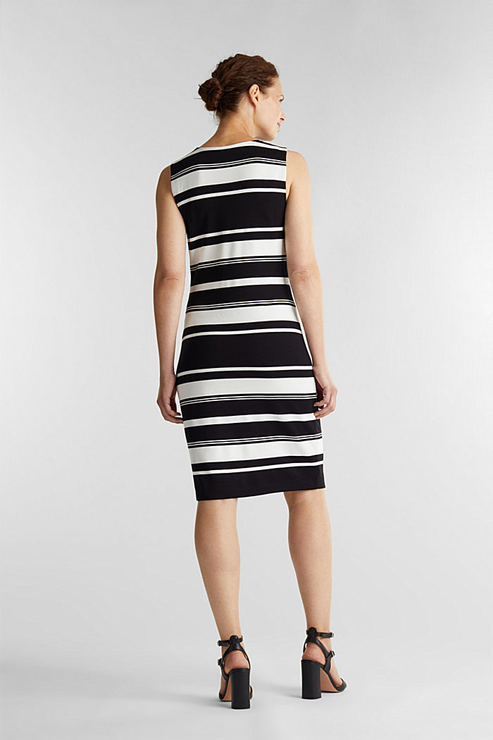 Striped jersey sheath dress, BLACK, detail image number 2