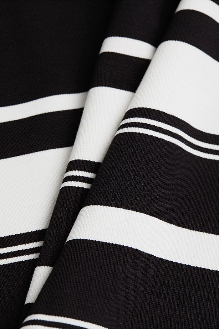 Striped jersey sheath dress, BLACK, detail image number 4
