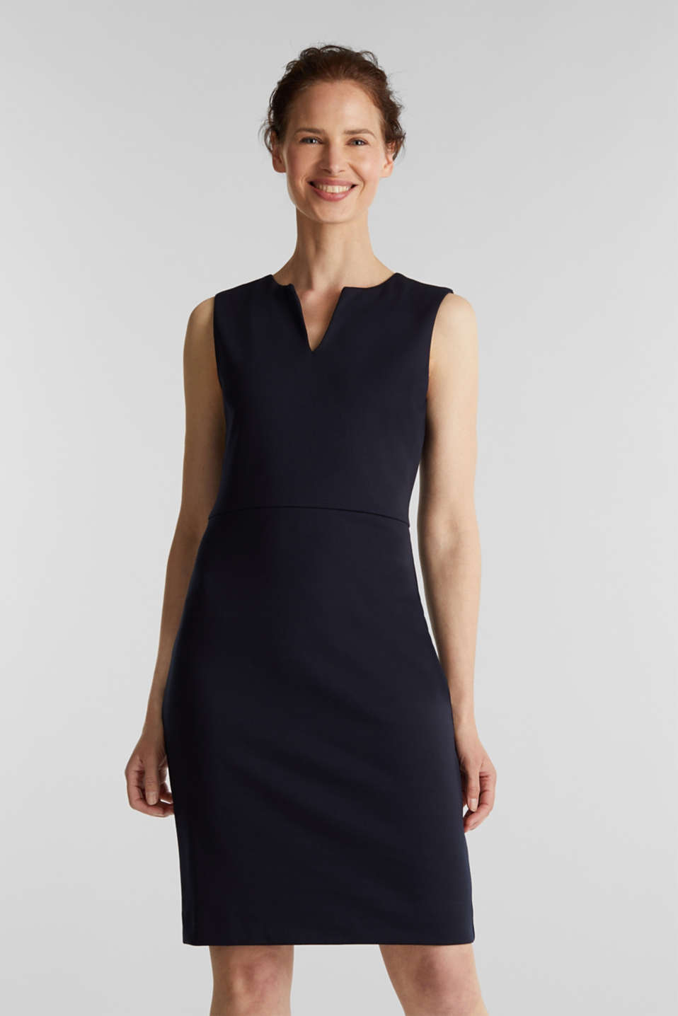 Esprit - Sheath dress made of stretch jersey