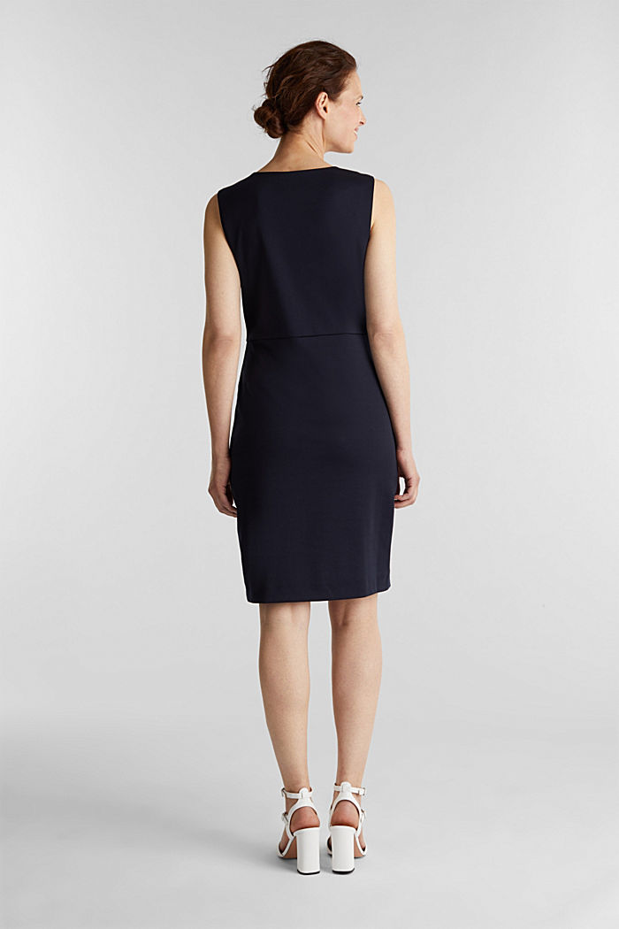 Sheath dress made of stretch jersey, NAVY, detail image number 2