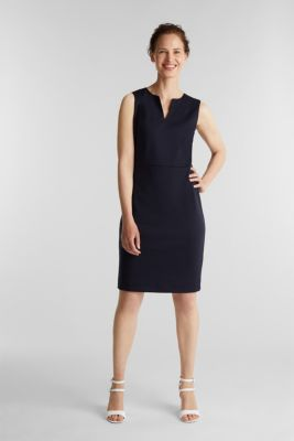 Sheath dress made of stretch jersey, NAVY, detail
