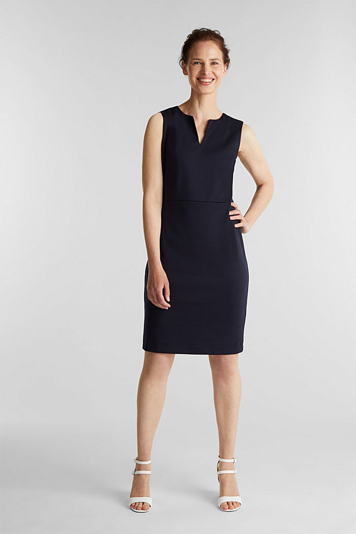 Sheath dress made of stretch jersey, NAVY, detail image number 1