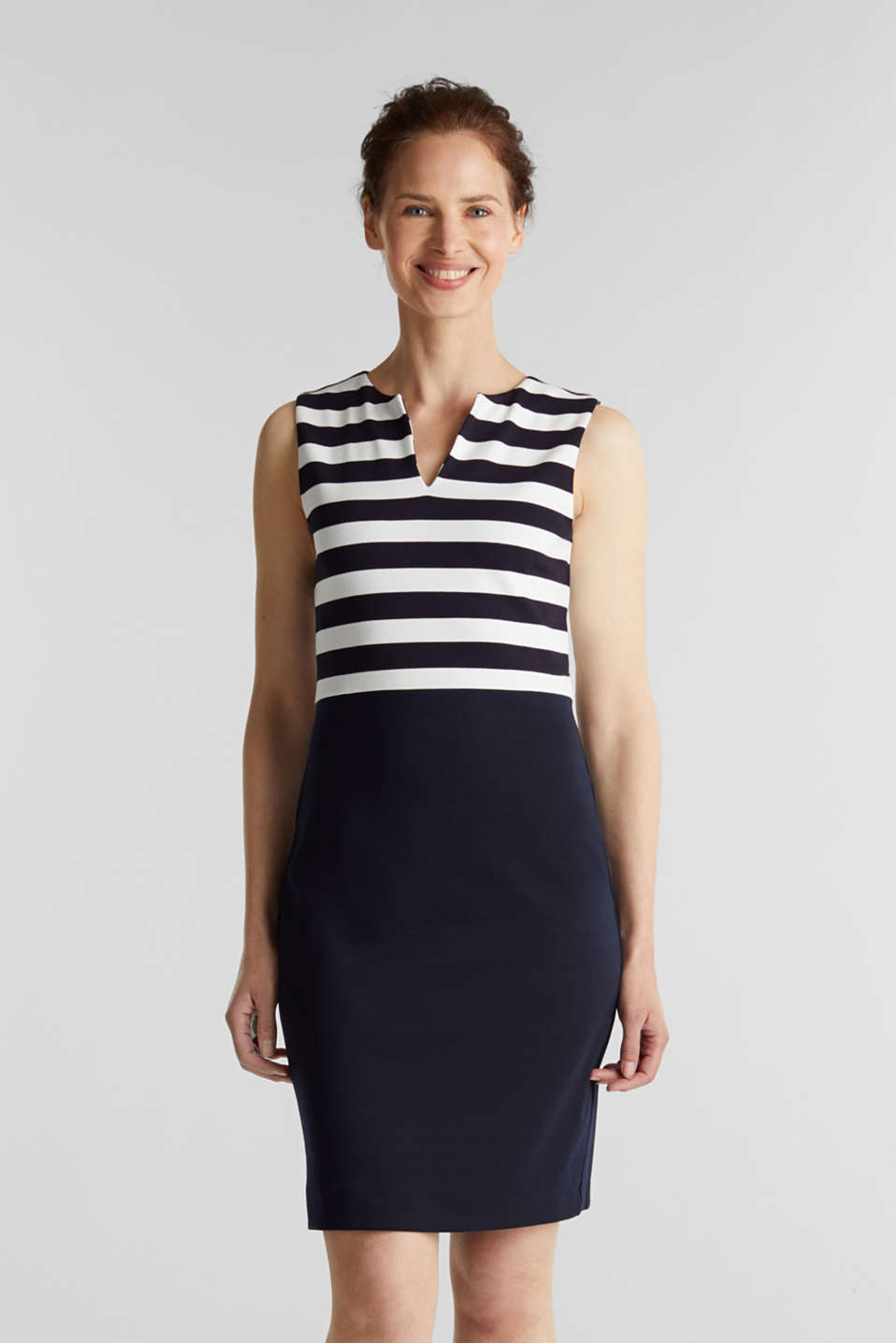 Sheath dress made of firm stretch jersey, NAVY, detail image number 0