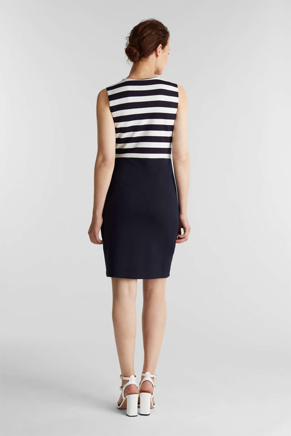 Sheath dress made of firm stretch jersey, NAVY, detail image number 2