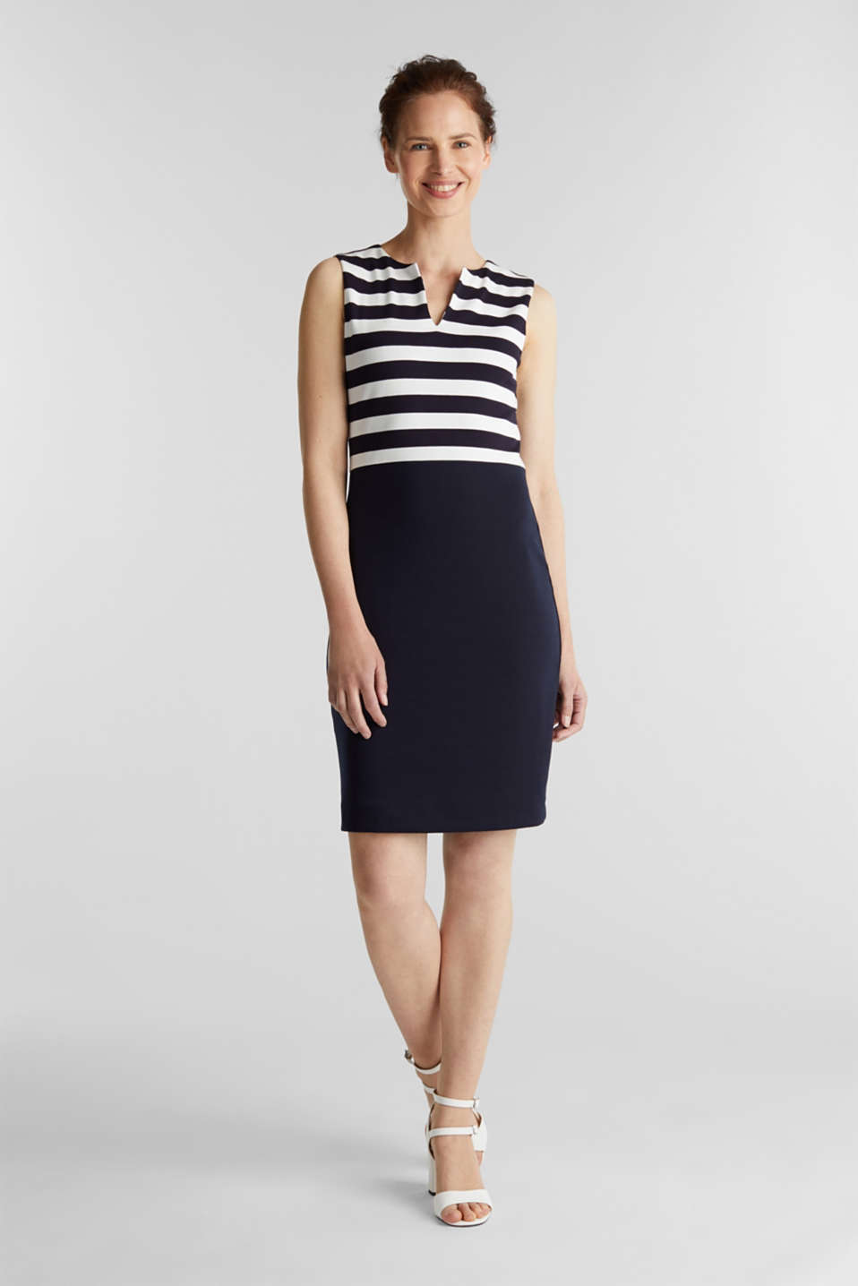 Sheath dress made of firm stretch jersey, NAVY, detail image number 1
