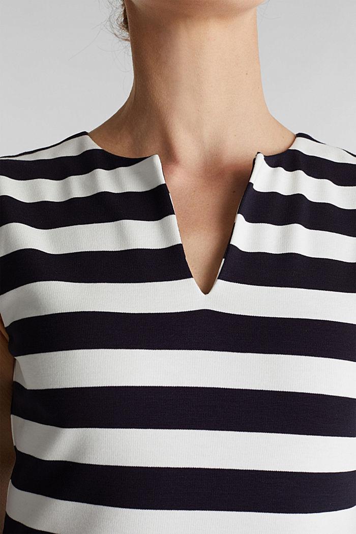 Kokerjurk van stevige, elastische jersey, NAVY, detail image number 3
